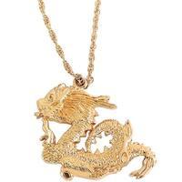 Century 14 Karat Gold Plated Martial Arts Dragon Necklace