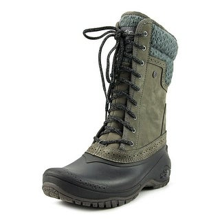 The North Face Shellista II Mid Women  Round Toe Suede Gray Snow Boot