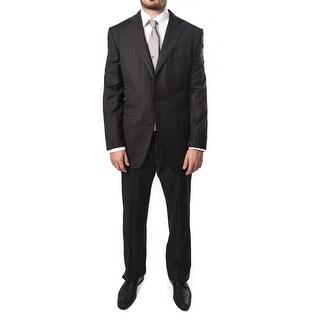 Ermenegildo Zegna Men Pinstripe Two-Piece Wool Suit Grey