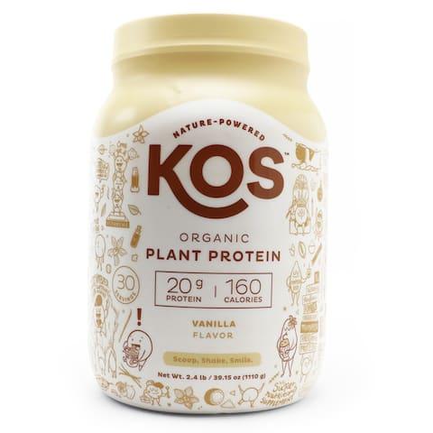 KOS - Organic Plant Protein Powder 30 Servings Vanilla - 2.4 lbs.