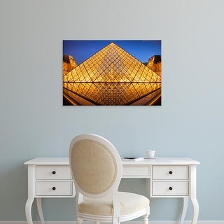 Easy Art Prints Brian Jannsen's 'Glass Pyramid At The Entrance To Musee Du Louvre' Premium Canvas Art