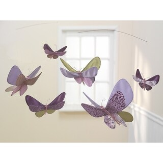 Lambs & Ivy Purple Butterfly Lane Ceiling Sculpture