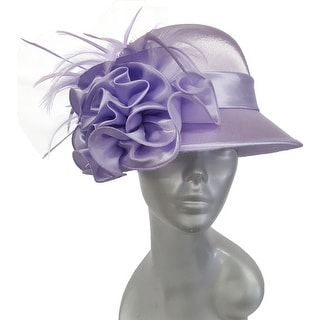 Link to Dressy designer satin covered Straw Sinamay womens Hat (As Is Item) Similar Items in As Is