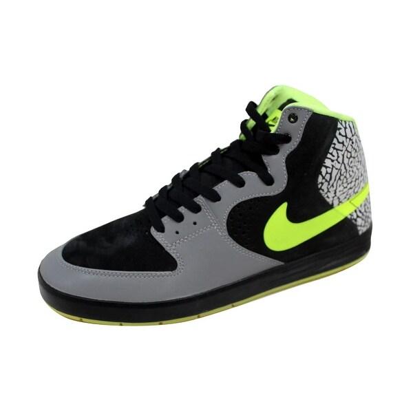 Nike Men's Paul Rodriguez 7 High Premium Metallic Silver/Volt-Black Clark Kent 629183-030