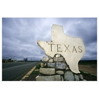 """Texas sign at border"" Poster Print"