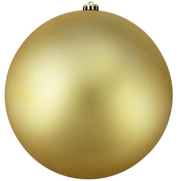 "Shatterproof Matte Vegas Gold Commercial Christmas Ball Ornament 10"" (250mm)"