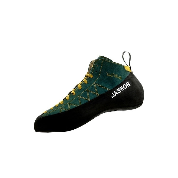 Boreal Climbing Shoes Mens Ballet Gold Leather Black Green