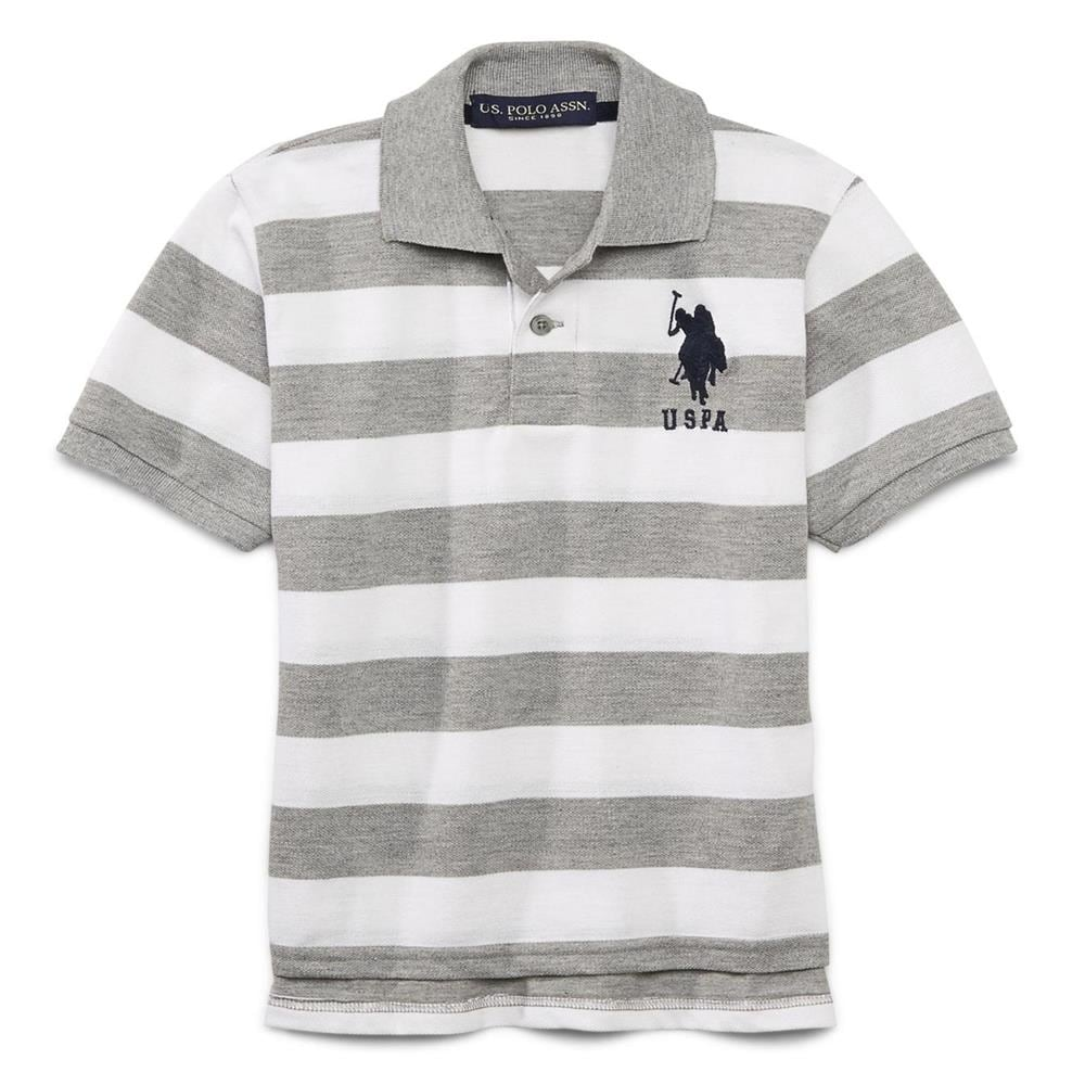 Shop U S Polo Association Boys 2t 4t Stripe Rugby Polo Grey Free Shipping On Orders Over 45 Overstock 28822526