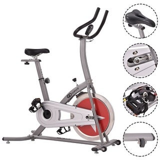 Costway Bicycle Cycling Exercise Bike Adjustable Gym Fitness Cardio Workout Home Indoor
