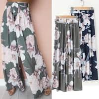 Floral Wide Leg Dress Pant