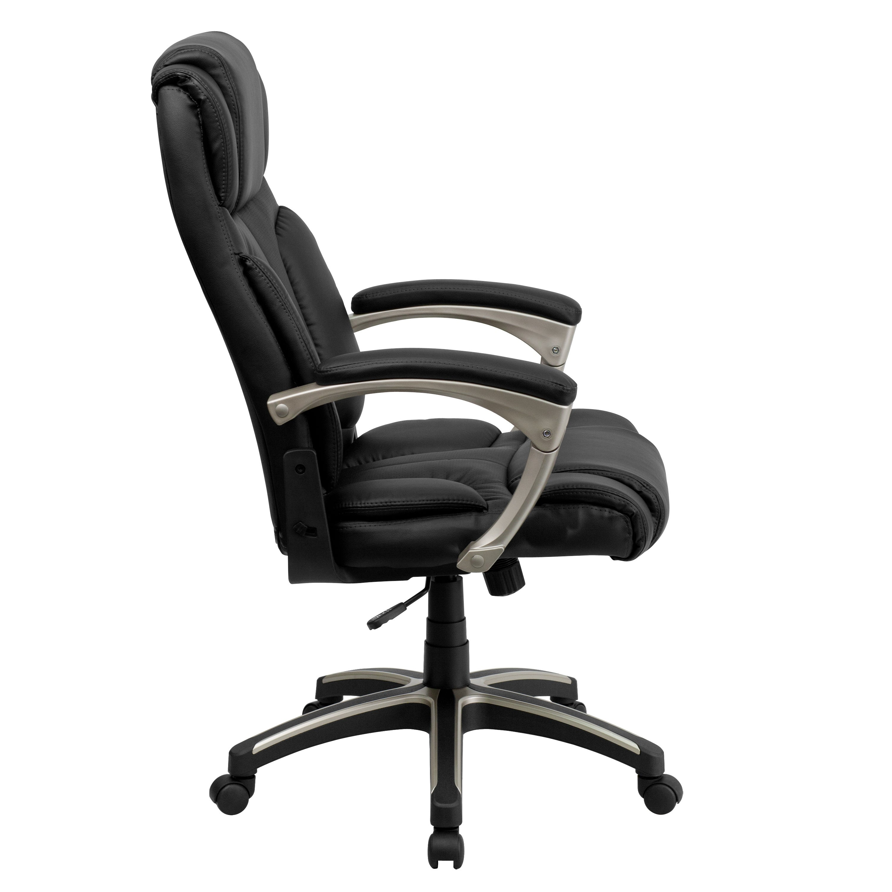 High Back Folding Black Leathersoft Executive Swivel Office Chair With Arms Overstock 10125415