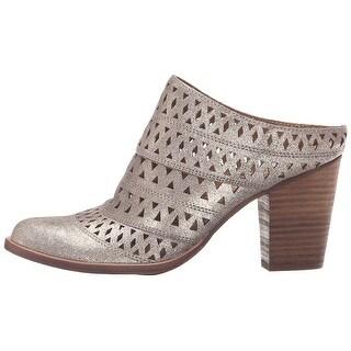 Steve Madden Womens Harmony Leather Almond Toe Mules