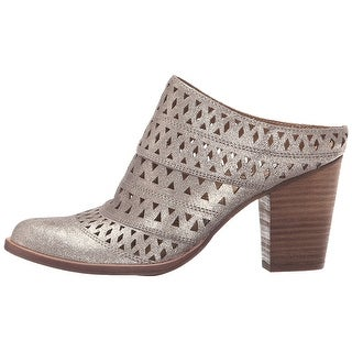 Steve Madden Womens Harmony Leather Almond Toe Mules