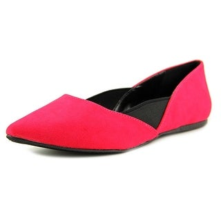 Qupid Pointer 96 Pointed Toe Synthetic Flats
