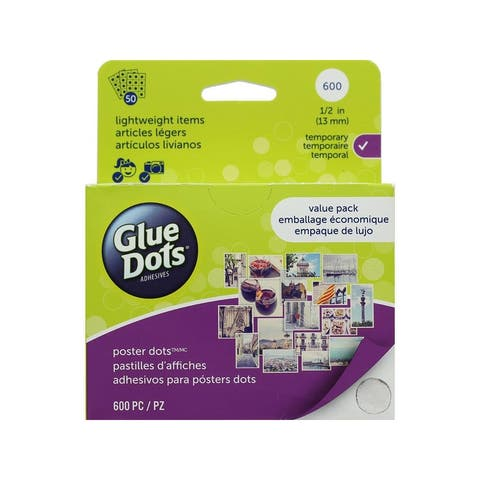 23549 glue dots poster 1 2 school value pack 600pc