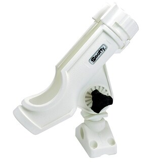 Scotty 34334M SCOTTY POWERLOCK ROD HOLDER WHITE W/ 241 SIDE/DECK MOUNT