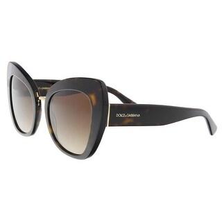 Dolce & Gabbana DG4319 502/13 Havana Cat Eye Sunglasses - 51-22-140