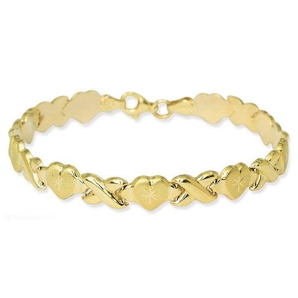 Mcs Jewelry Inc YELLOW STAMPATO XOXO FRIENDSHIP AND RELATIONSHIP BRACELET