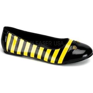 Funtasma Women's Bee 16 Black/Yellow Patent