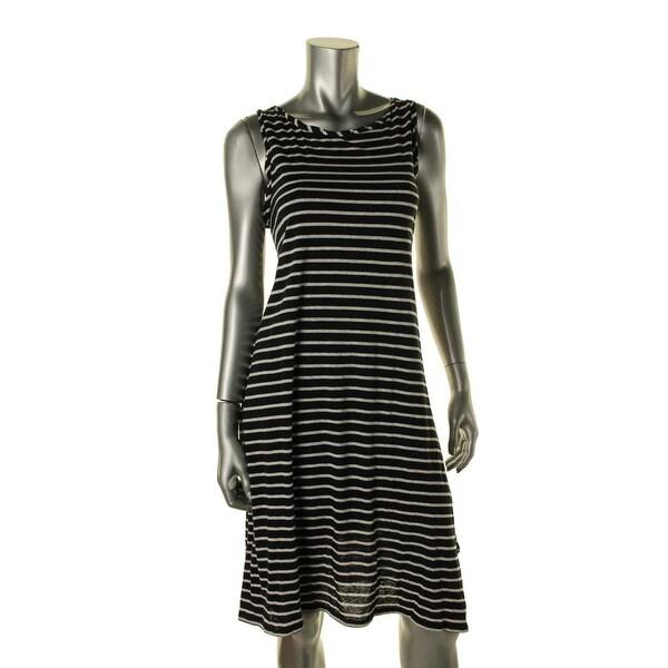 0b0a9e2045b76a Shop Studio M Womens Tank Dress Linen Blend Striped - Free Shipping On  Orders Over  45 - Overstock.com - 14002259