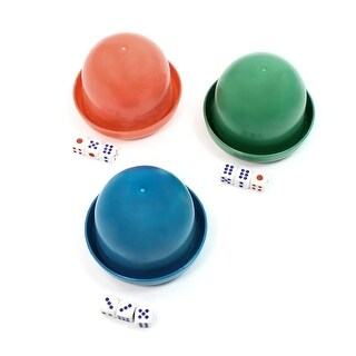 Game Dice Roller Cups Blue Green Watermelon Red 3 Pcs each w 3 Dices