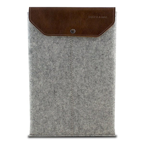 "Graf & Lantz Emmet Sleeve with Leather Flap for 13"" MacBook Pro - Gray"