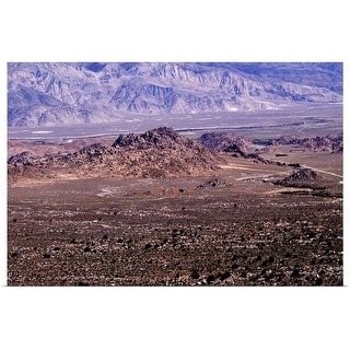 """""""Alabama Hills with White Mountains in background, California"""" Poster Print"""