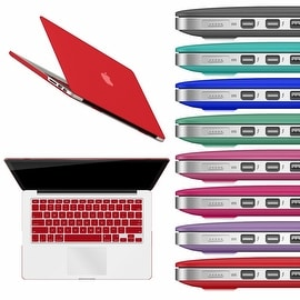 "Rubberized Hard Shell Matte Case Cover For MacBook Pro 13"" Retina With Keyboard Skin A1425/A1502"