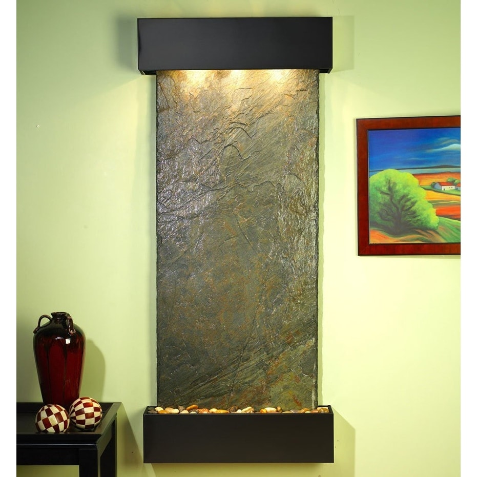 Adagio Inspiration Falls Wall Fountain Green Solid Slate Blackened Copper - IFS1 - Thumbnail 0
