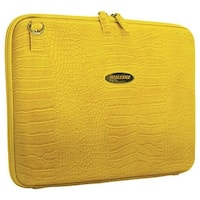 "Mobile Edge Women's Faux Croc TechStyle Portfolio- 14.1""PC/15""Mac Yellow - us women's one size (size none)"