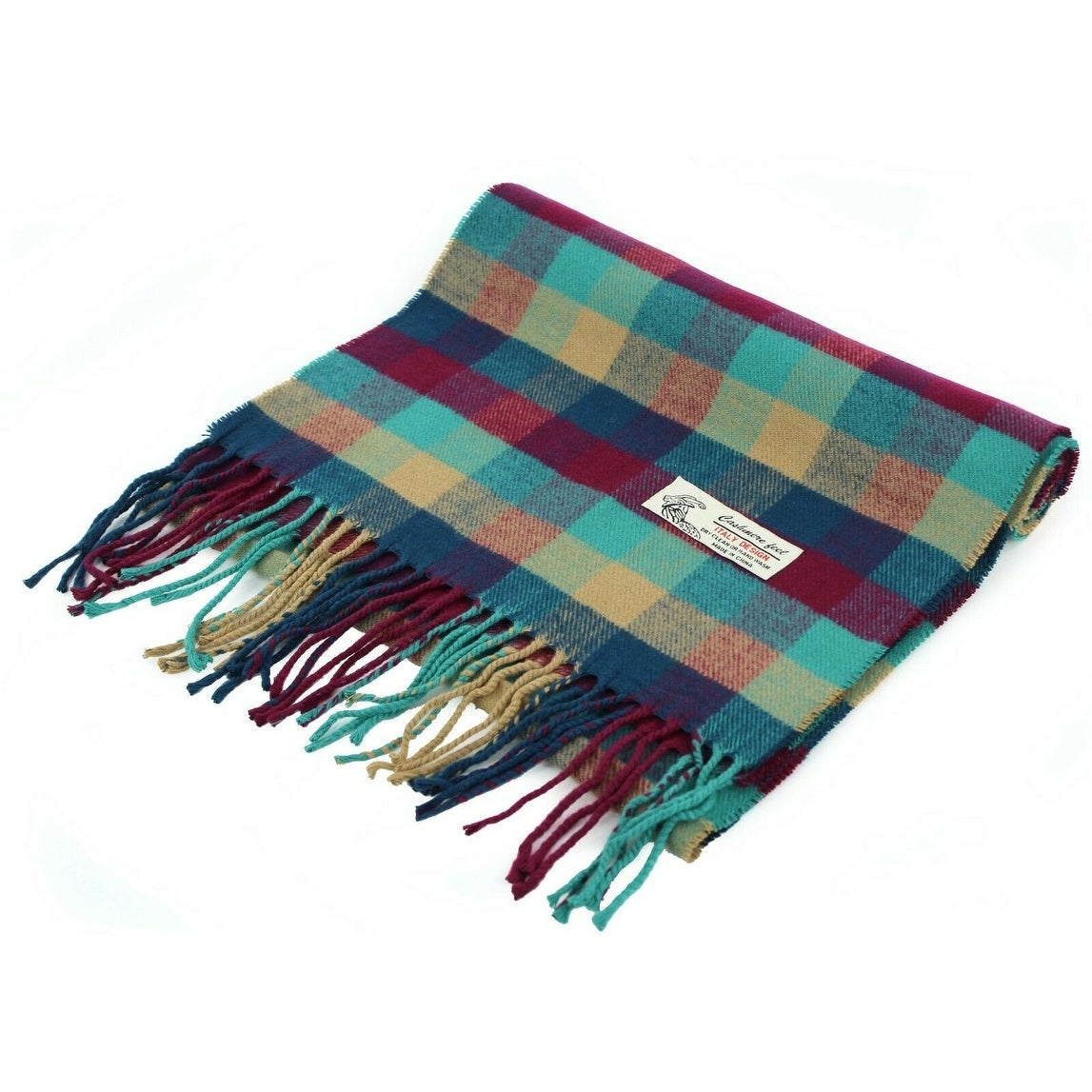 """Thumbnail 5, Super Soft Luxurious Classic Cashmere Feel Winter Scarf - 72""""x12"""" with 3"""" fringes. Changes active main hero."""