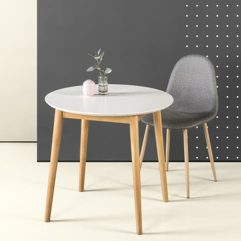 Priage by ZINUS White 32'' Mid-Century Wood Dining Table