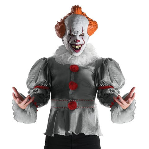 IT (2017 Film) Pennywise Adult Costume - White