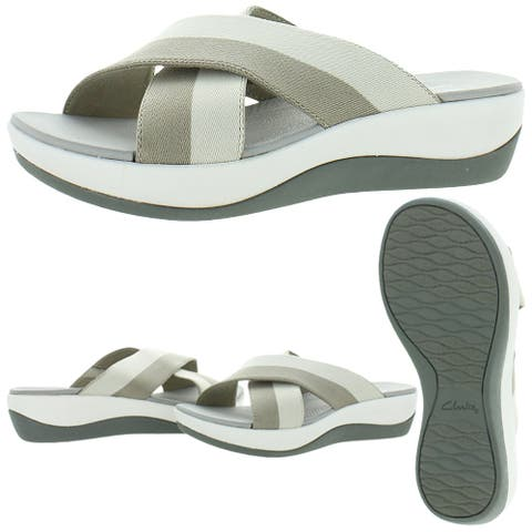 Cloudsteppers by Clarks Arla Elin Women's Colorblock Cushioned Slide Sandals