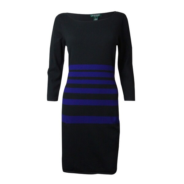 ab42ced0e55 Shop Lauren Ralph Lauren Women s Striped Sweater Dress - On Sale ...