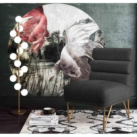 Kelly Slub Grey Velvet Chair