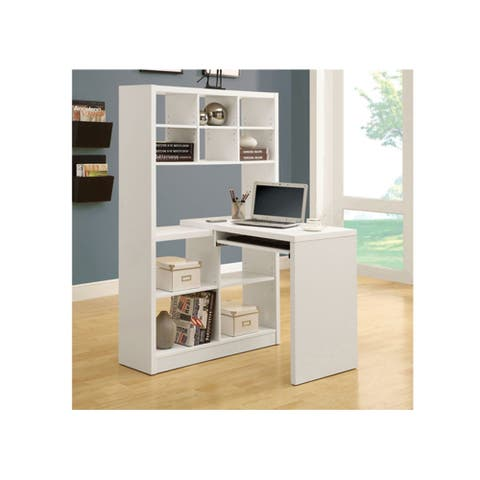Offex OFX-283831-MO - White Hollow-Core Left or Right Facing Corner Desk