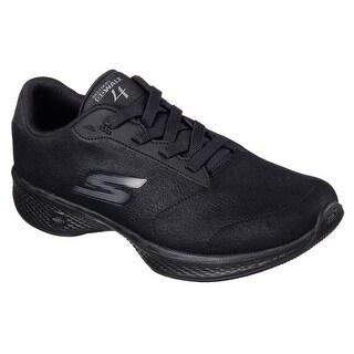 Skechers Women's GOwalk 4 Premier Walking Shoe,Black