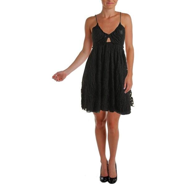 Free People Womens Nicolette Babydoll Dress Empire Mesh