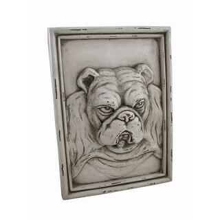 White Bulldog Resin Wall Plaque