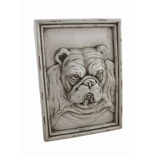 White Bulldog Resin Wall Plaque