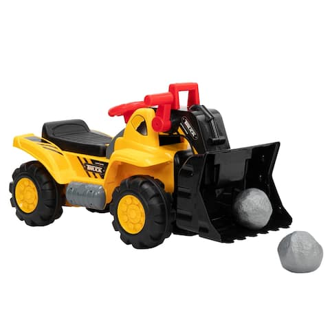 Children's Bulldozer Toy Car without Power Two Plastic Simulation Stones and A Hat