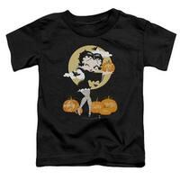 Betty Boop-Vamp Pumkins - Short Sleeve Toddler Tee - Black,