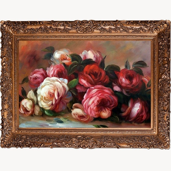 Discarded Roses by Pierre Auguste Renoir Framed Hand Painted Oil on Canvas