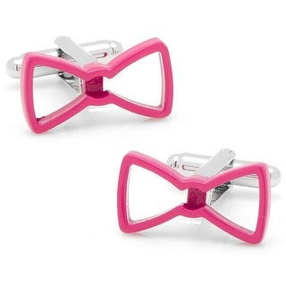 Cool Cut Pink Bow Tie Cufflinks