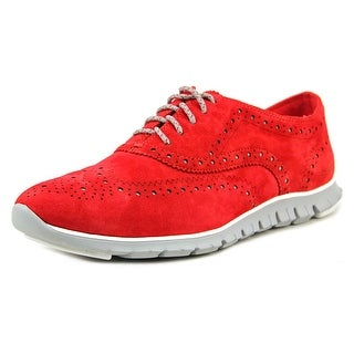 Cole Haan Zerogrand oxford Women C Round Toe Suede Red Oxford