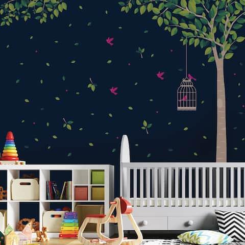 Walplus Huge Green Tree Peel and Stick Wall Sticker Wall Decal Home Decor