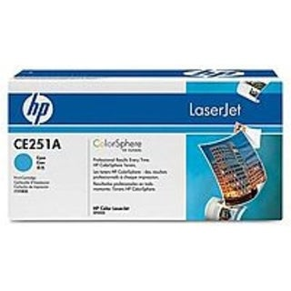 HP CE251A Cyan Laser Toner Cartridge for LaserJet CP3520, CM3530 MFP Series Printers - 7000 Pages Yield