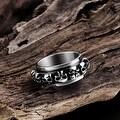 Vienna Jewelry Round of Skulls Stainless Steel Ring - Thumbnail 1