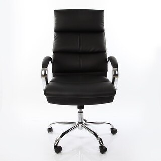VECELO Ergonomically High Back PU Leather Office Desk Chair , Swivel Armchair